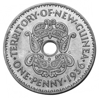 New Guinea Penny reverse