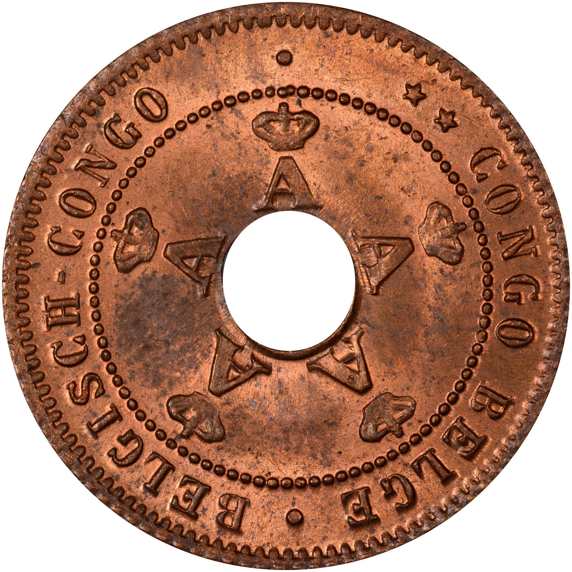 1910-1919 Belgian Congo Centime obverse