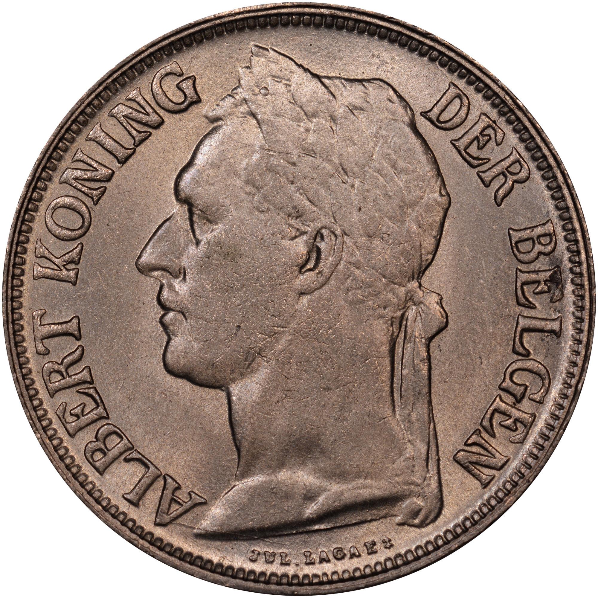 1920-1929 Belgian Congo Franc obverse