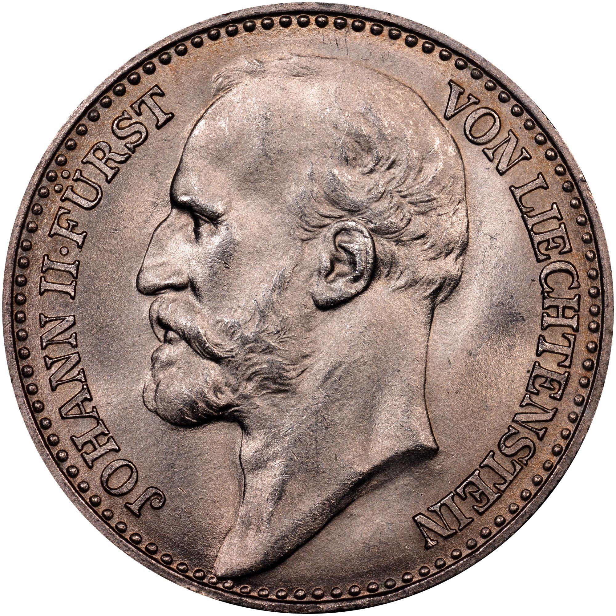1900-1915 Liechtenstein Krone obverse