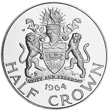 Malawi 1/2 Crown reverse