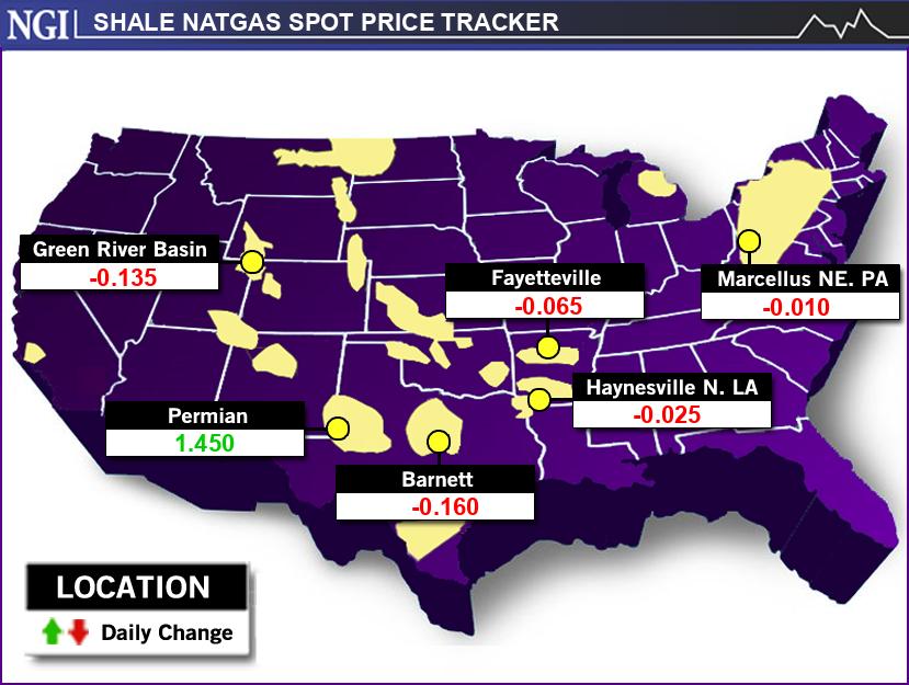 NGI's Shale Price Tracker