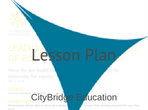CityBridge Lesson Plan