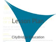 CityBridge Lesson Plan