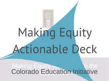CEI Making Equity Actionable Deck