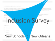 NSNO Inclusion Survey