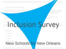 NSNO Inclusion Survey