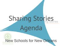 NSNO Sharing Stories Agenda