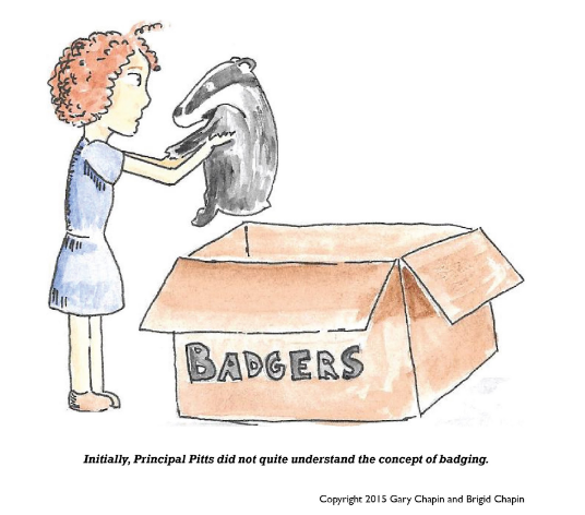 Badger badges cartoon