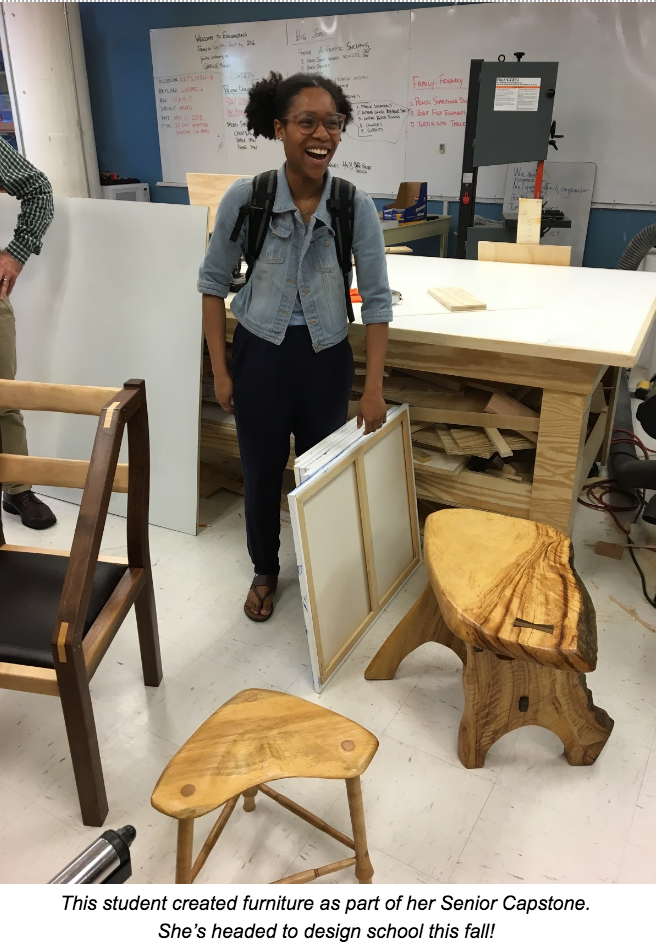 Science Leadership Academy student's capstone project