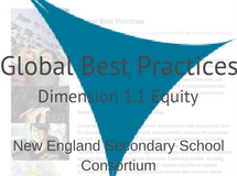 Great Schools Partnership Global Best Practices Dimension 1.1 Equity