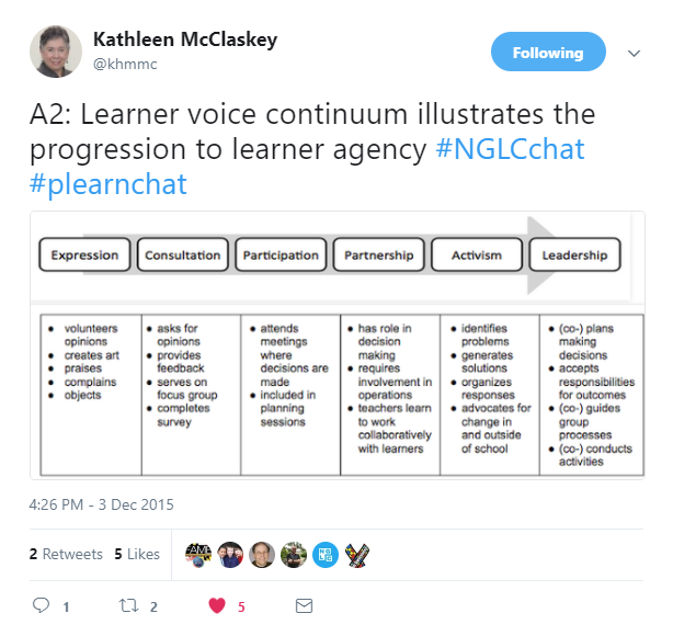 Continuum of learner voice