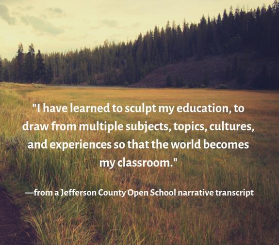 Jeffco Open student quote