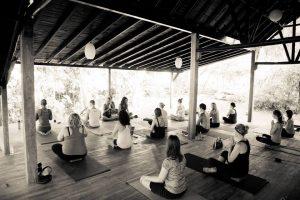 nicaragua black and white yoga studio