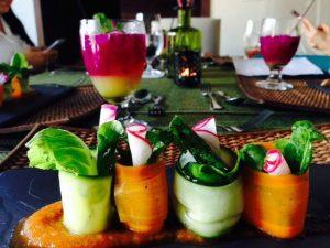 healthy vegetable wraps nicaragua yoga
