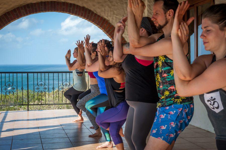 Moksha group outside Nicaragua beach getaway