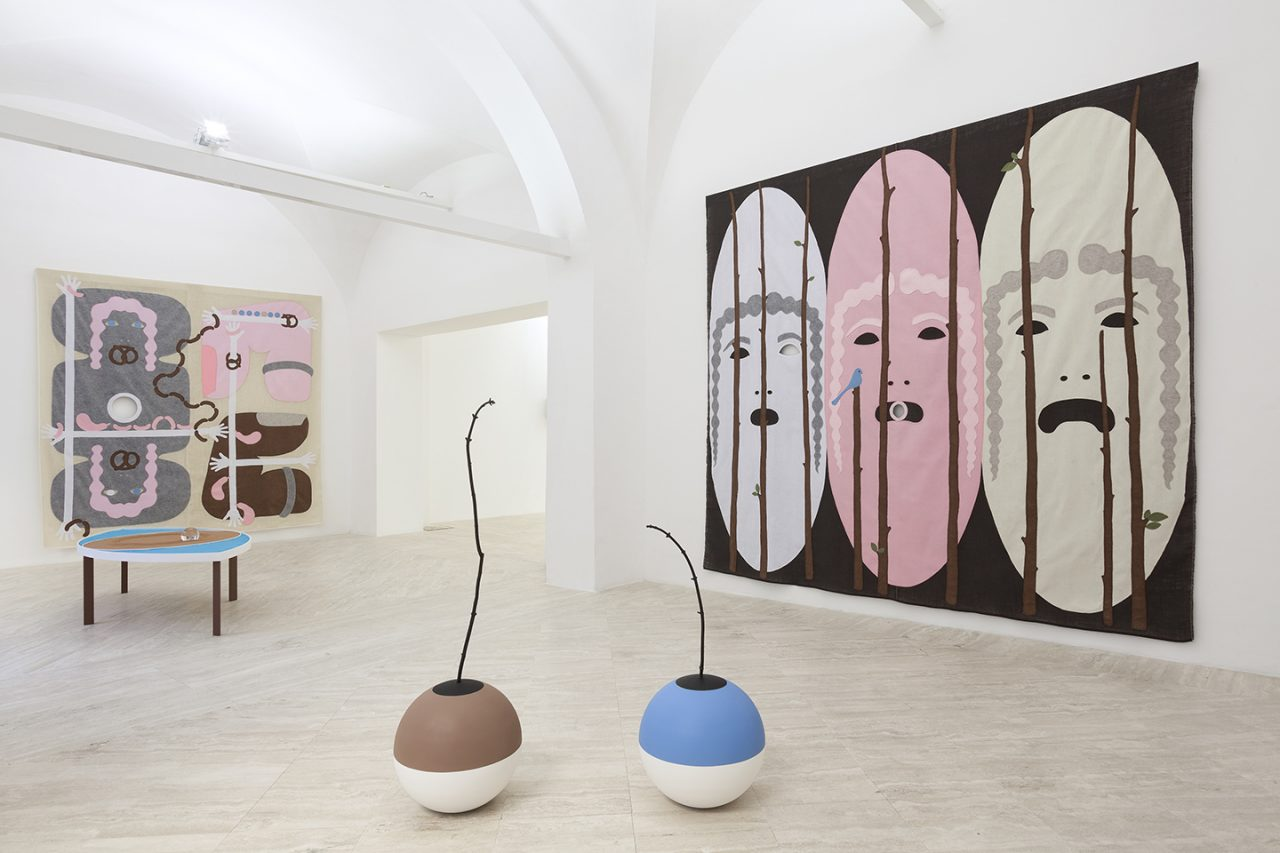 Jonathan Baldock | Installation view of Conversation Piece | Part III, 2016, Fondazione MEMMO, Rome, Italy