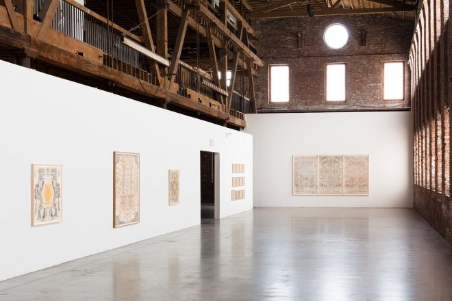 Louise Despont | Installation View, The Six-Sided Force, Pioneer Works, 2014