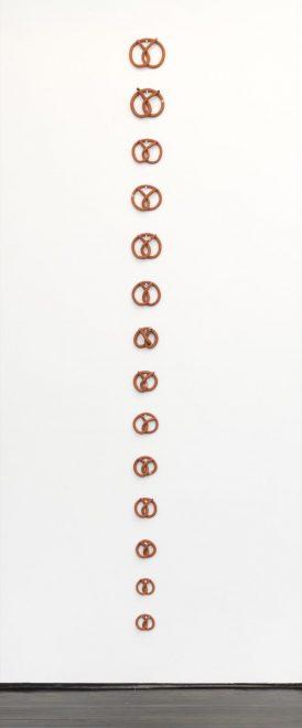 Jonathan Baldock | Installation view of Pretzel Fingers I-XIV