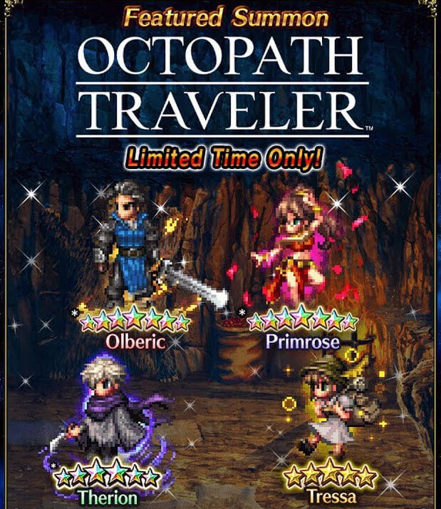 Octopath Traveler Ventures into Final Fantasy Brave Exvius Today