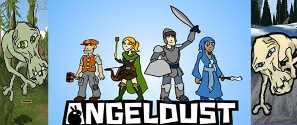 Angeldust - A first person fantasy world where an Angelic Archer, A Dusty Knight, A Mysterious Mage and a Crafty Farmer join forces to create their own adventure.