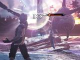 Battling a monster in Mobius Final Fantasy