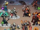 Opposing heroes in Gods and Glory: War for Throne