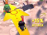 Aiming in Angry Birds Evolution