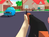 Using an AK47 in Dude Theft Auto