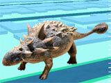 Jurassic World Alive encountering a dinosaur