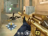 Taking down enemies in Crossfire: Legends' FPS mode