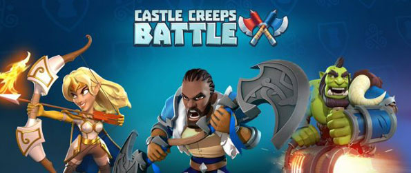 Castle Creeps Battle - Summon Heroes, Troops and cast spells to destroy the enemy's castle and defend your own in Castle Creeps Battle!