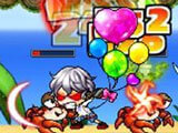 Fighting crabs in MapleStory M