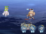 Fighting an enemy battleship in Azur Lane