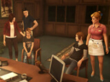 Chloe, Rachel, and their parents in Life is Strange: Before the Storm