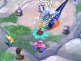Fighting a monster in Dragalia Lost