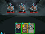 Battling weaker monsters in Dark Dungeon Survival