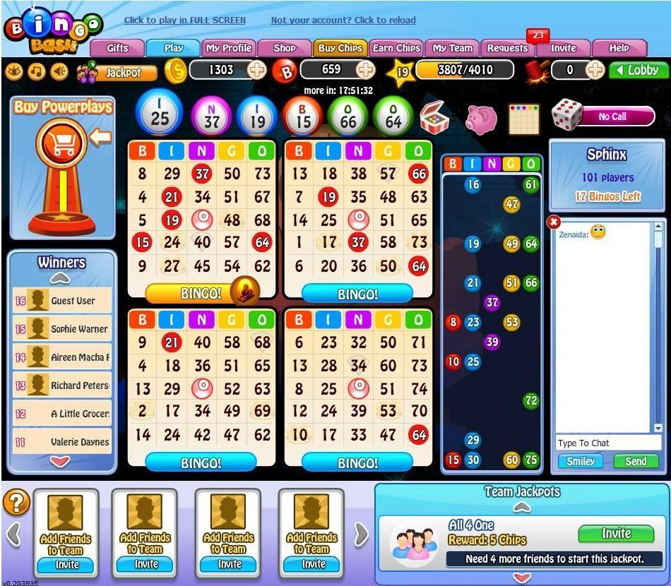 bingo online cash games