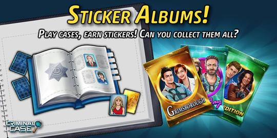 Sticker album in Criminal Case