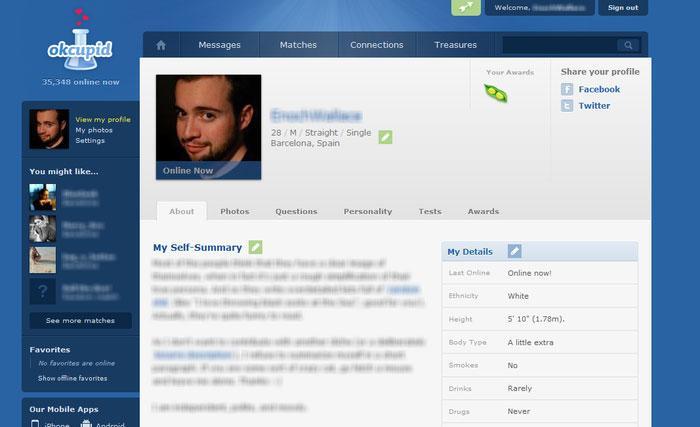 OkCupid recherche de datation