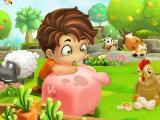 Jack and the other farm animals in Cube Farm 3D: Harvest Skyland