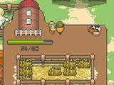 Tiny Pixel Farm: Collecting hay