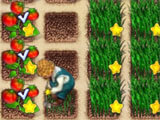 Virtual Farm Game Harvesting Tomatoes