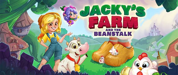 Jacky's Farm - Follow Jacky's adventure as she climbs the beanstalk and confronts the giant in this brilliant match-3 puzzle game, Jacky's Farm!