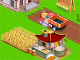 Asian Town Farmer building a farm