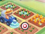 Town Farm: Truck watering crops