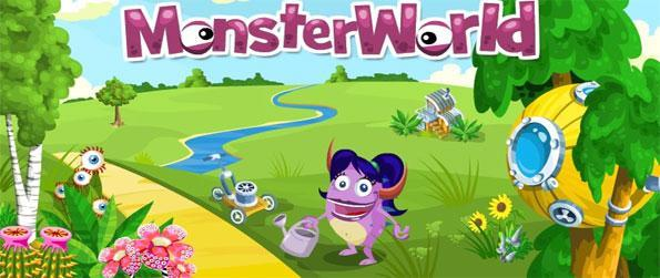 Monster World - Create your own futuristic paradise and farm in a fun Facebook game.