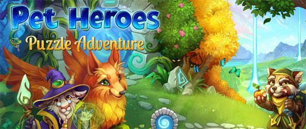 Pet Heroes: Puzzle Adventure - Enjoy this delightful match-3 game that implements a variety of new gameplay concepts into the mix.
