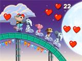 Collecting Hearts in Nutty Fluffies Rollercoaster