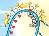 Nutty Fluffies Rollercoaster: Curvy Tracks